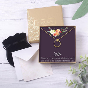 Dear Ava Sister Necklace (Gold) - Lavender Fields