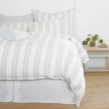 Pom Pom at Home Carter Ivory/Denim Duvet - Lavender Fields