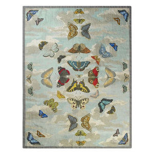 Designers Guild Mirrored Butterflies Sky Throw - Lavender Fields