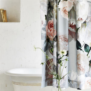 Designers Guild Peonia Grande Zinc Shower Curtain