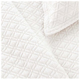 Pine Cone Hill Diamond White Matelasse Sham - Lavender Fields