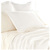 Pine Cone Hill Diamond White Matelassé Coverlet