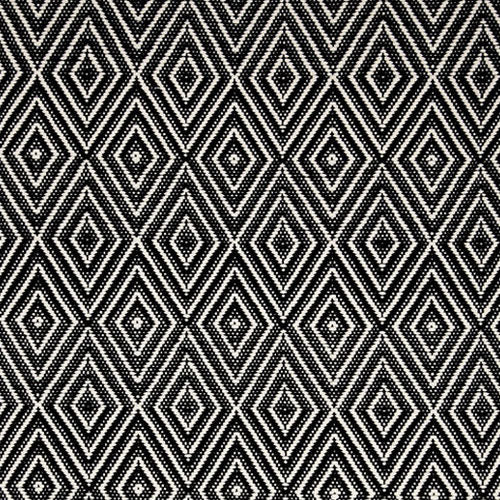 Dash and Albert Diamond Black/Ivory Indoor/Outdoor Rug