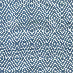 Dash and Albert Diamond Denim/White Indoor/Outdoor Rug - Lavender Fields