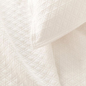 Pine Cone Hill Diamond Ivory Matelasse Coverlet - Lavender Fields