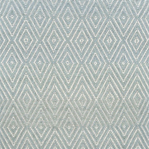 Dash and Albert Diamond Light Blue/Ivory Indoor/Outdoor Rug - Lavender Fields