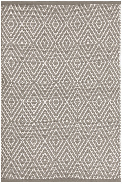 Dash and Albert Diamond Fieldstone Ivory Indoor/Outdoor Rug - Lavender Fields