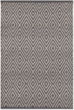 Dash and Albert Diamond Graphite/Ivory Indoor/Outdoor Rug - Lavender Fields