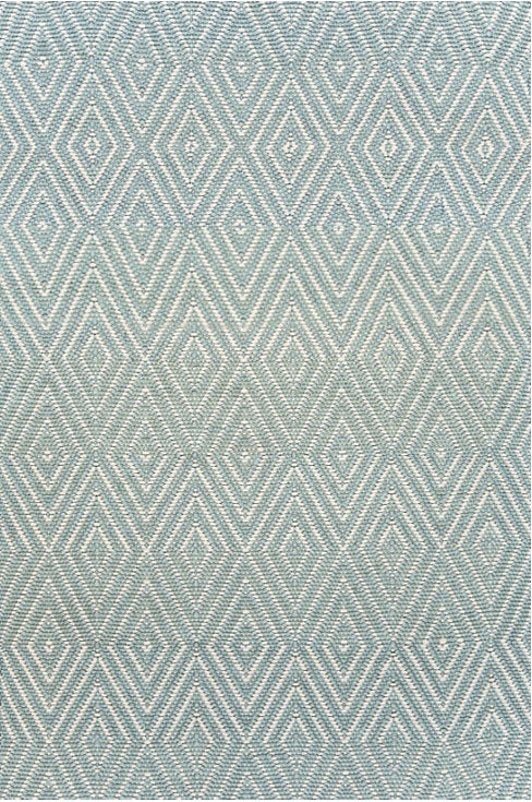 Dash and Albert Diamond Light Blue/Ivory Indoor/Outdoor Rug