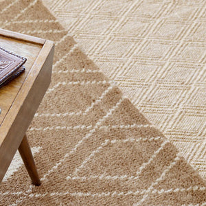 Dash and Albert Diamond Natural Sisal Woven Rug - Lavender Fields