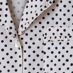 Taylor Linens Black Polka Dot Pajama Set - Lavender Fields