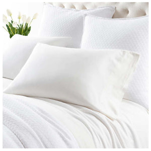 Pine Cone Hill Comfy Cotton Dove White Pillowcases - Lavender Fields