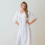 Jacaranda Living Liz White Cotton Nightgown, Smocking & Lace