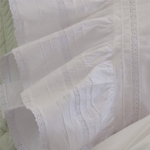 Taylor Linens Elisa Egg-White Sheet Set - Lavender Fields