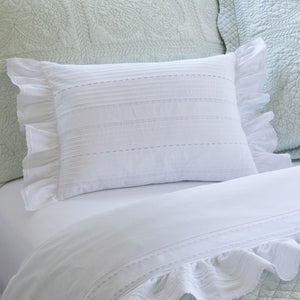 Taylor Linens Elisa Egg White Boudoir Pillow - Lavender Fields