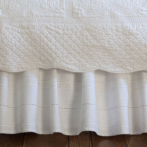 Taylor Linens Elisa Egg White Bed Skirt