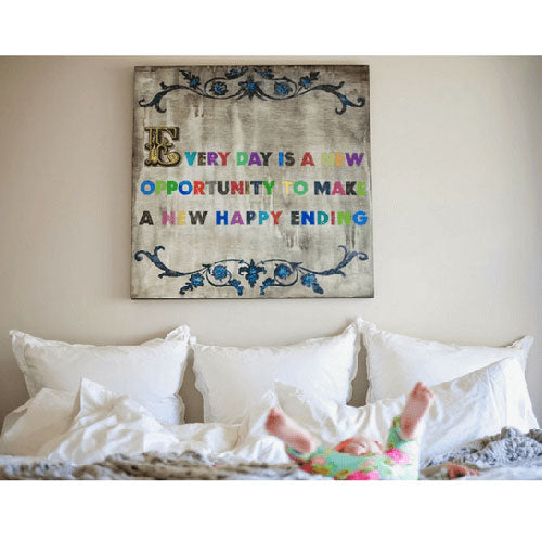 Sugarboo Designs Every Day Is A New Opportunity Art Print (White Wash Frame)