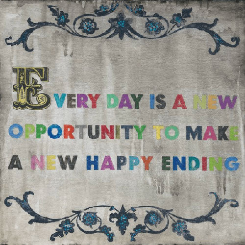 Sugarboo Designs Every Day Is A New Opportunity Art Print (Gallery Wrap)