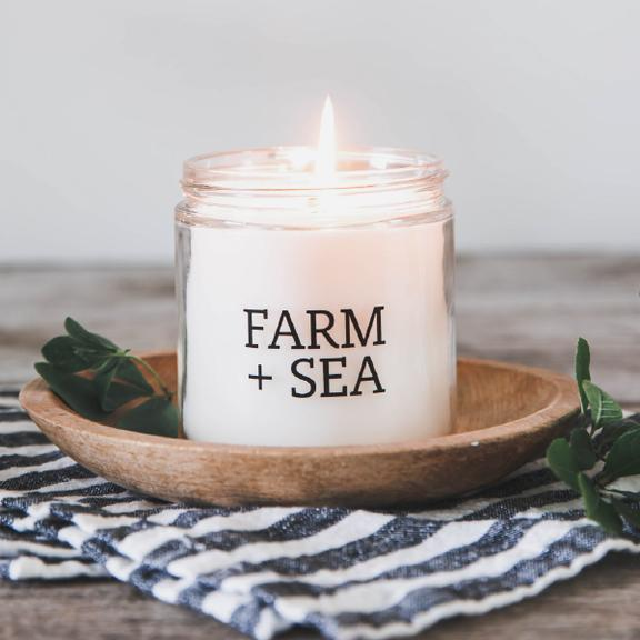 Farm + Sea Lemon and Lavender Candle - Lavender Fields