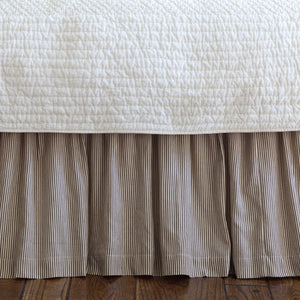 Taylor Linens Farmhouse Stripe Bedskirt - Lavender Fields