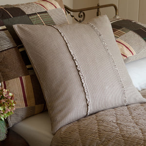 Taylor Linens Farmhouse Stripe Porch Pillow - Lavender Fields