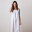 Jacaranda Living Starfish White Cotton Nightgown, Embroidered