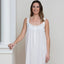 Jacaranda Living Heather White Cotton Nightgown