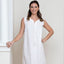 Jacaranda Living Lillian White Cotton Nightgown