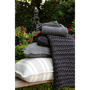 Pom Pom at Home Finn Midnight Throw - Lavender Fields