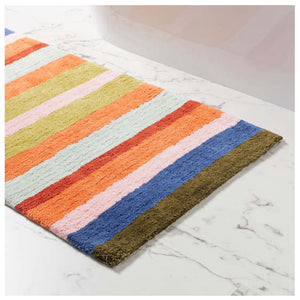 Pine Cone Hill Franklin Stripe Bath Rug - Lavender Fields