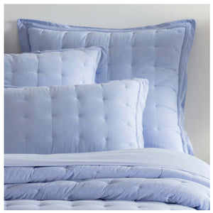 Pine Cone Hill Comfy Cotton French Blue Puff Sham - Lavender Fields