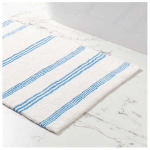 Pine Cone Hill Rowe Stripe French Blue Bath Rug - Lavender Fields