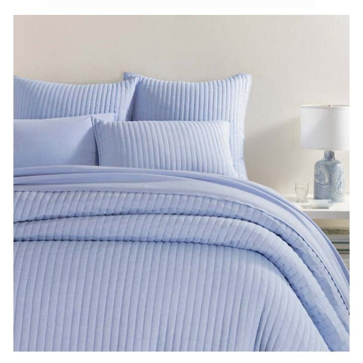 Pine Cone Hill Comfy Cotton French Blue Quilt - Lavender Fields