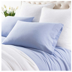 Pine Cone Hill Comfy Cotton French Blue Pillowcases - Lavender Fields