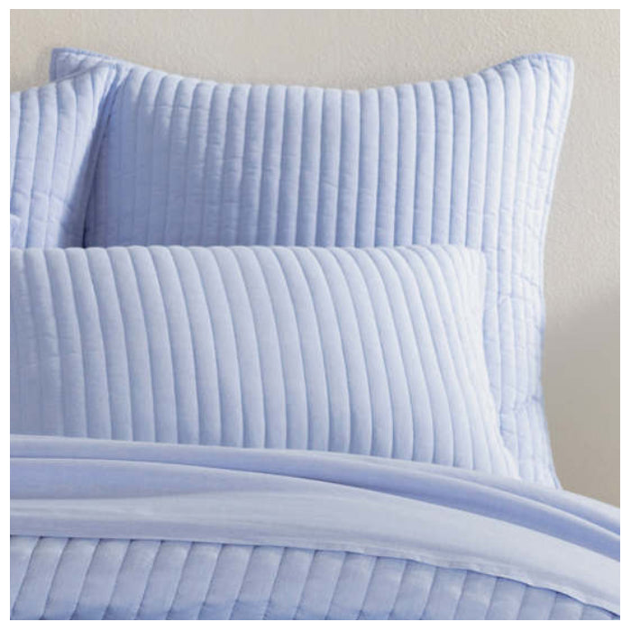 Pine Cone Hill Comfy Cotton French Blue Quilted Sham - Lavender Fields