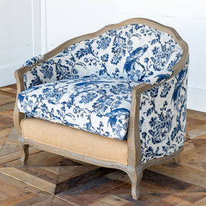 French Farmhouse Toile Settee