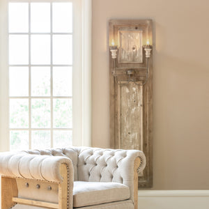 French Panel Wall Sconce - Set of 2 - Lavender Fields