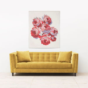 Gallini Rose Textile Art Print