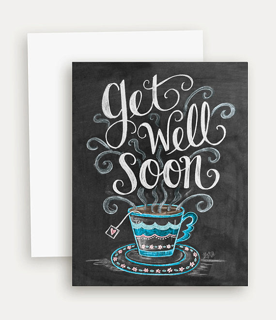 Get Well Soon Card - Lavender Fields