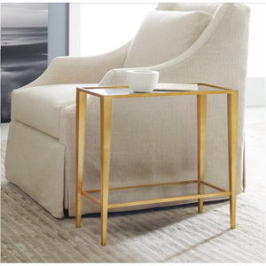 Modern History Large Gilt Chairside Table