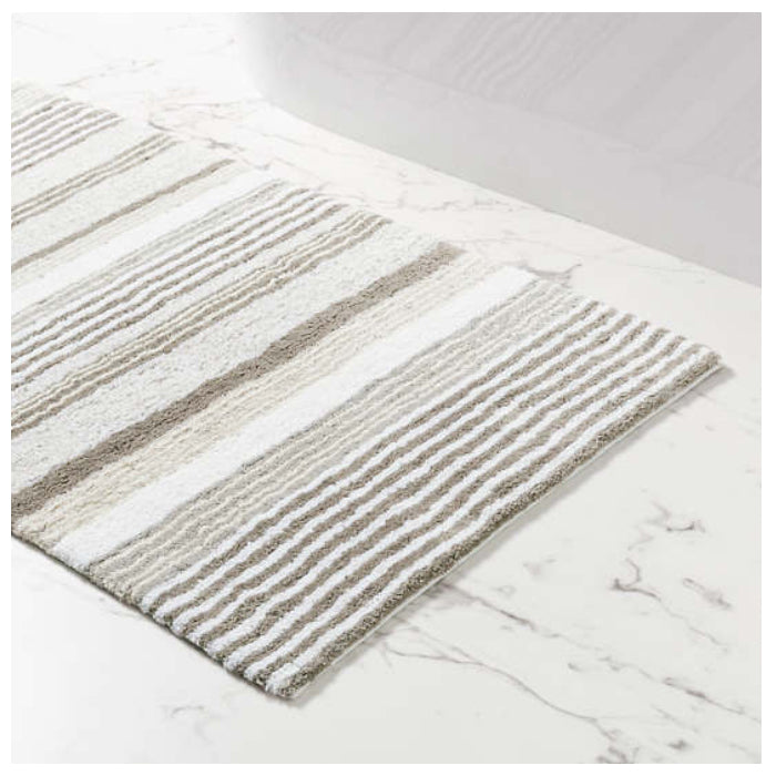 Pine Cone Hill Gradation Stripe Bath Rug - Lavender Fields