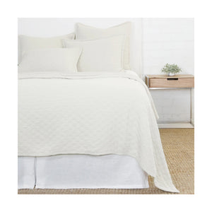 Pom Pom at Home Ojai Matelasse Greige Coverlet - Lavender Fields