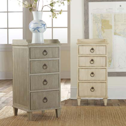 Modern History Gustavian Bedside Cabinet in Antique Grey - Lavender Fields