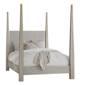 Modern History Gustavian Abstract Bed - Lavender Fields