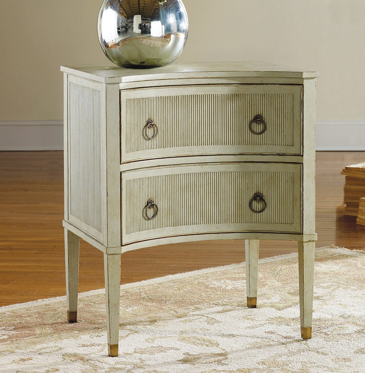 Modern History Painted Gustavian Bedside Chest - Grey - Lavender Fields