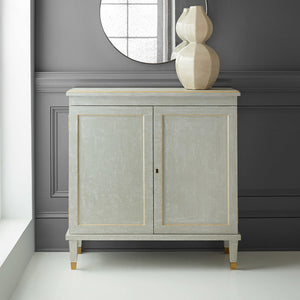 Modern History Gustavian Two Drawer Cabinet - Lavender Fields