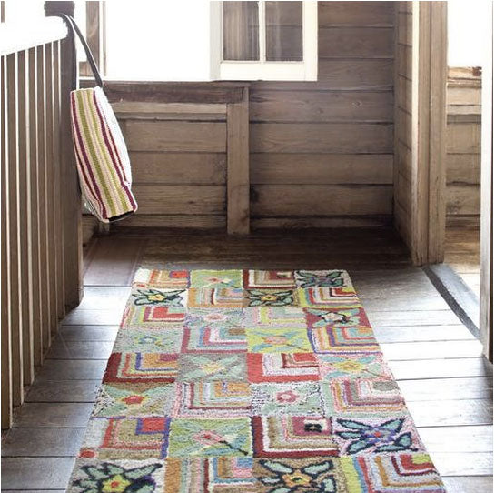 Dash and Albert Gypsy Rose Cotton Hooked Rug