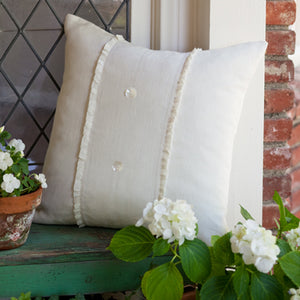 Taylor Linens Hampton Cream Porch Pillow - Lavender Fields