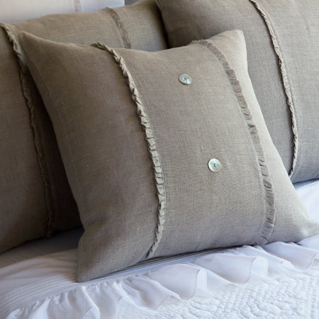 Taylor Linens Hampton Natural Linen Porch Pillow