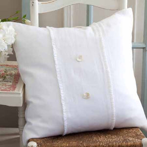 Taylor Linens Hampton White Linen Porch Pillow - Lavender Fields